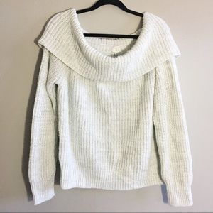 A New Day Cream Knit Sweater Wide Turtleneck 3X